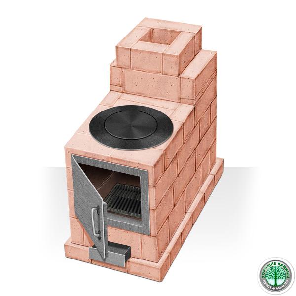 Маленькая печь из кирпича своими руками для дома